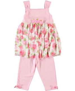 Emily Rose Girls 2T 4T Floral Ruffle Capri Set Rare Editions Clothing