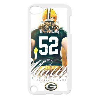 Hot NFL Players Clay Matthews Green Bay Packers #52 Apple iPod Touch 5 iTouch 5th Designer Case Cover Protector   Players & Accessories