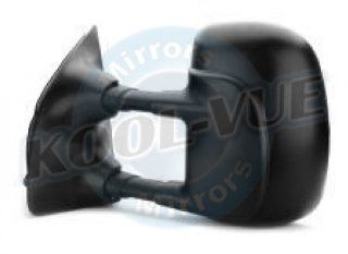 QP F407B a Ford Black Manual Driver Side Mirror Automotive