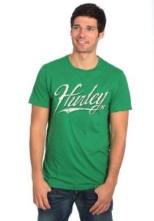 Hurley Outfield Mens Premium T Shirt (Medium, Green) Clothing