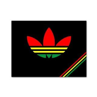 Rastadidas Adidas Original Rasta Colors Jamaica Car Sticker Decal Large 12""