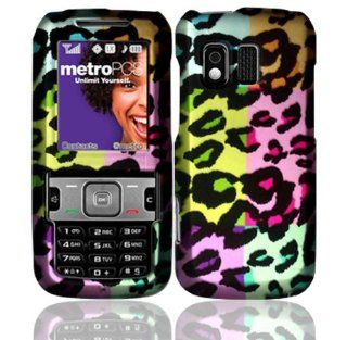 Colorful Leopard Design Hard Case Cover for Samsung Messager R450 R451C R451 Cell Phones & Accessories