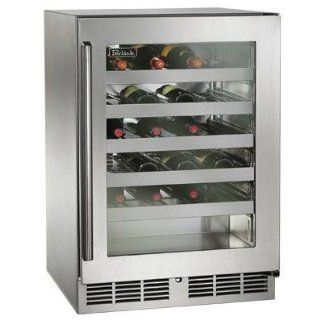 Perlick 45 Bottle Built in Wine Reserve   Glass Door / Stainless Steel Trim   Hp24ws 3l Appliances