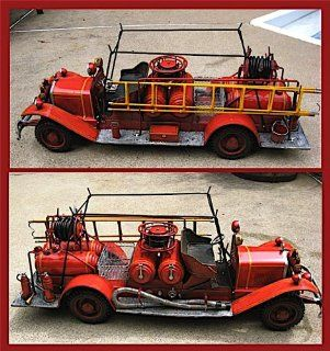 "44.5"" Antique Reproduction Tin Fire Truck Great Detail*   Toy Vehicles"