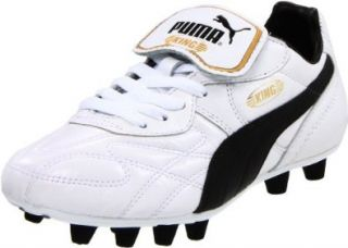 Puma King Top K Di FG Soccer Cleat,Black/White/Team Gold,6.5 D US Shoes