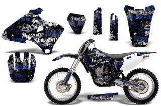 SilverHaze AMRRACING MX Graphics decal kit fits Yamaha YZ 250/400/426 (1998 2002) Blue Black BG Automotive