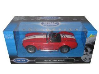 1965 Shelby Cobra 427 Red 124 Diecast Model Car Toys & Games