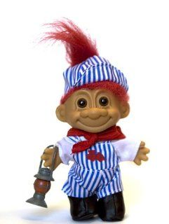 My Lucky Troll Train Conductor Troll Doll (Red Hair) Toys & Games
