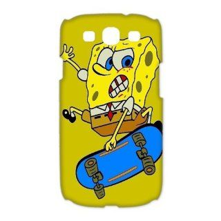 Custom Spongebob 3D Cover Case for Samsung Galaxy S3 III i9300 LSM 3279 Cell Phones & Accessories