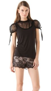 RED Valentino Tulle Short Sleeve Top