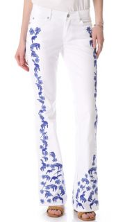 Rebecca Minkoff Embroidered Slim Boot Cut Jeans