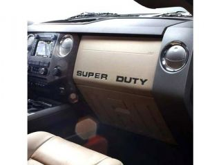 Ford 2008 up Super Duty Trucks Black Dashboard Lettering Kit