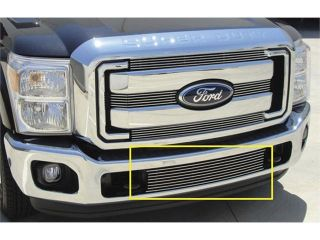 T REX 2011 2012 Ford Super Duty Bumper Billet Grille Insert   Between Tow Hooks POLISHED 25546