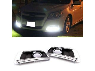 Fit 2013 and up Chevy Malibu High Power 12 LED Daytime Running Lights DRL Lamps Kit