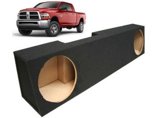 "2006 2013 DODGE RAM MEGA CAB TRUCK DUAL 10"" CUSTOM SUBWOOFER ENCLOSURE SUB BOX"