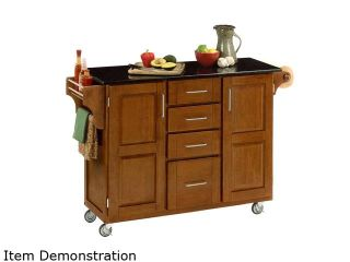Home Styles 9100 1064 Create a Cart Cottage Oak Kitchen Cart with Black Granite Top