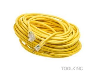 Woods 2884 50 Foot Yellow Jacket 3 Conductor 12 Gauge Power Cord