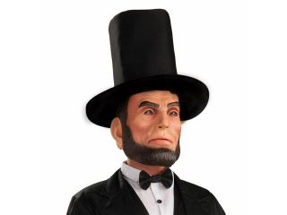 President Abraham Lincoln Latex Costume Mask With Hat Adult