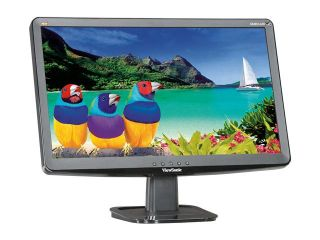 "ViewSonic VA2033 LED Black 20"" 5ms Widescreen LED Backlight LCD Monitor 250 cd/m2 DC 10,000,000:1 (1,000:1)"