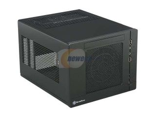 SILVERSTONE Sugo Series SG05BB 450 ALL Black  Plastic / SECC Mini ITX Desktop Computer Case with SFX 450W 80+ Bronze Certified / Single +12V rail Power Supply