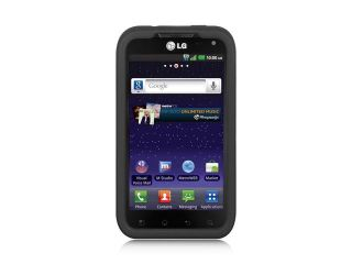 LG Connect 4G MS840 Black Silicone Skin Case