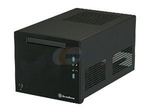 SILVERSTONE Sugo Series SST SG08B Black Aluminum Mini ITX Desktop Computer Case 600W 80+ Bronze Certified / Single +12V rail Power Supply