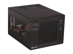 SilverStone Sugo Series SG05B USB3.0 Black SECC / Plastic Mini ITX Desktop Computer Case SFX 300W 80Plus Power Supply with 2 x USB3.0 ports (Black)