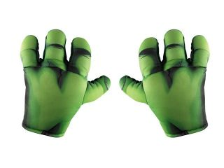 Marvel Super Hero Squad Hulk Soft Big Hands, Green, One Size