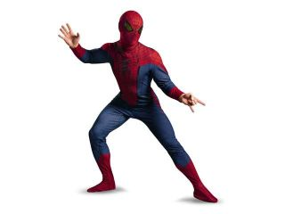 Disguise Costumes The Amazing Spider Man Movie Deluxe Adult Licensed Costume, Red/Blue/Black, X Large (42 46)