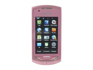 "Samsung Monte S5620 Pink Unlocked GSM Touch Screen Phone w/ 3.15 MP Camera / GPS / 3"" Touch Screen"