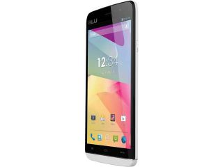 Blu Studio 5.5 S D630u White Quad Core 1.3GHz Unlocked GSM Dual SIM Android Cell Phone