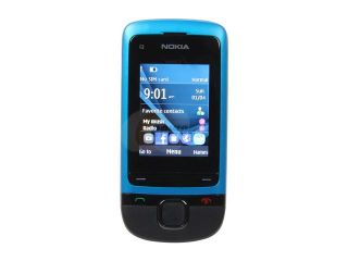 "Nokia C2 05 Peacock Blue Unlocked GSM Slider Phone w/ Bluetooth / VGA Camera / 2"" Display"