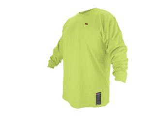 Revco FTL6 LIM Lime Green Flame Resistant Cotton Long sleeve T Shirt, 2X Large