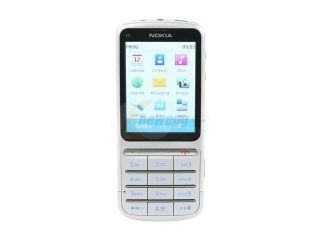 Nokia C3 01 Touch and Type Silver 3G Unlocked GSM Bar Phone with 5MP Camera / Wi Fi