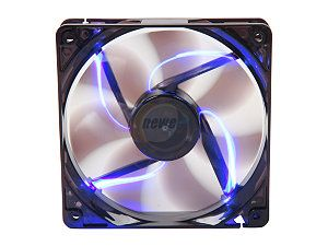 APEVIA CF12SL TBL 120mm UV blue LED fan w/3 pin and 4 pin connectors and black grill