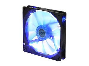 APEVIA  CF14SL BBL  140mm UV blue LED fan w/3 pin and 4 pin connectors and black grill