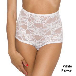 American Apparel Womens Nylon Stretch Lace High waist Briefs (95 percent nylon / 5 percent elastaneHand wash cold; hang to dryModel number RSALS365All measurements are approximate and may vary by size. Please note This garment is delicate and should be